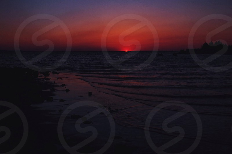 ocean sunset view photography photo