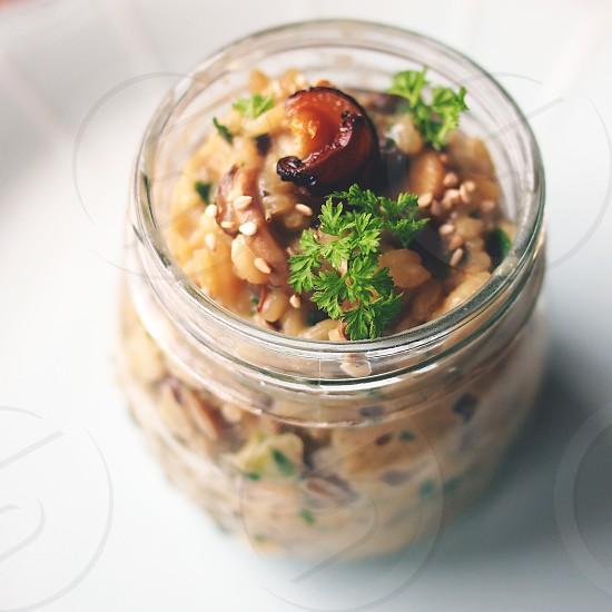food risotto mushroom can photo