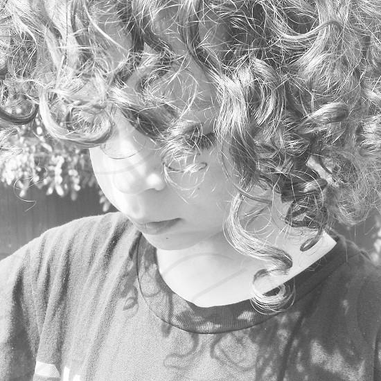 boy curls photo