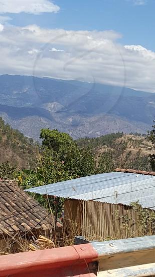 Guatemala Mountains Sky Tin Roof Rustic photo