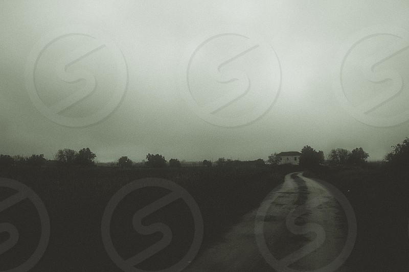horizon landscape memory vintage mood haze photo