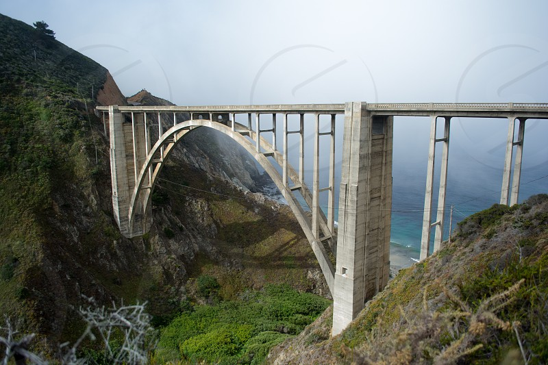 Bixby Creek Bridge in Big Sur California photo