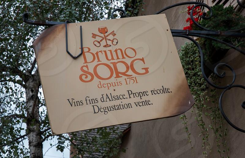 bruno sorg depuis 1751 sign photo