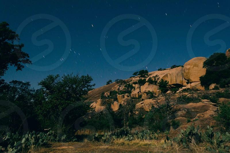 Enchanted Rock at night photo