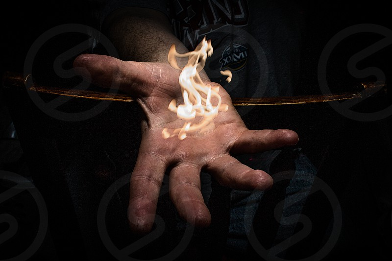 Catching Fire: Long exposure light painting with a flash and butane lighter photo