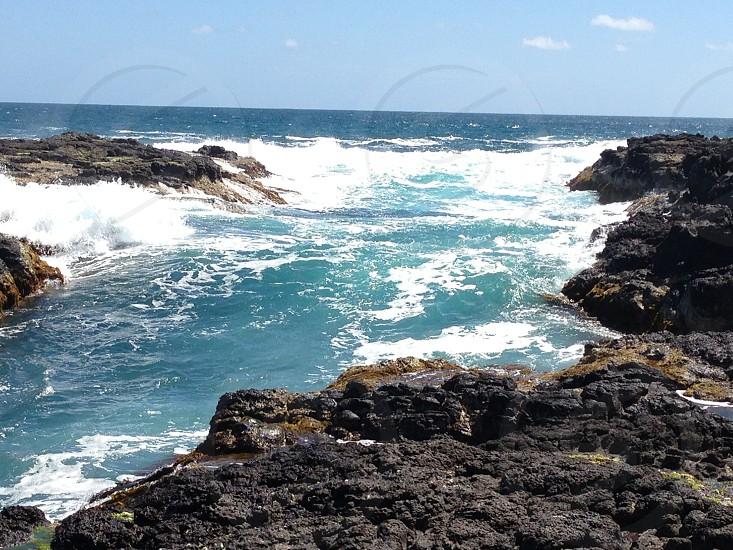 Cape Schanck Victoria Australia:  ocean tide rockpools sea photo