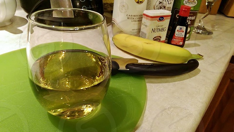 Wine while cooking! photo