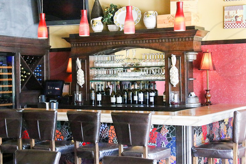 Wine bar at Filomena's Italian Kitchen - horizontal photo