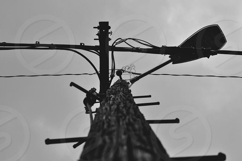 black electrical post capture photo