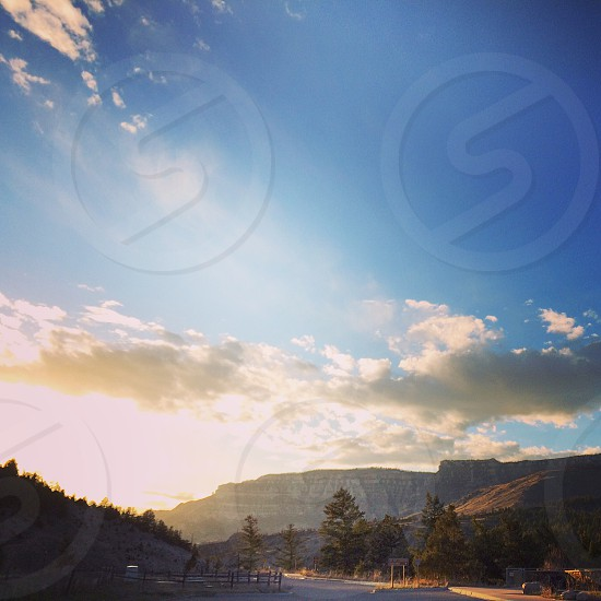 Sunlight sunset blackhills South Dakota big horn mountains photo