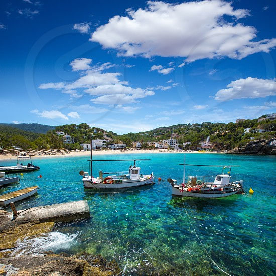 Ibiza Cala Vedella Vadella in Sant Josep at Balearic Islands of spain photo