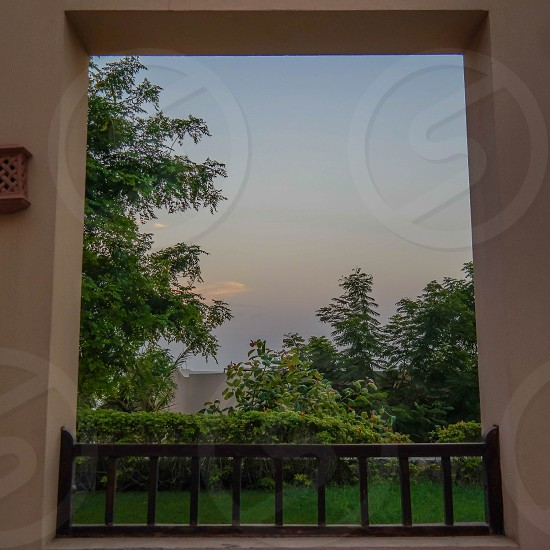 window with garden view photo