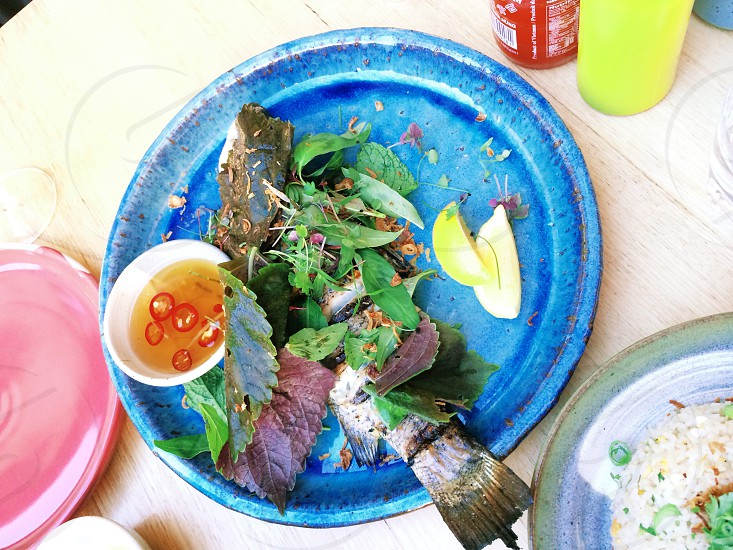 Grilled fish. photo