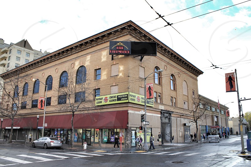 The Fillmore in San Francisco California street view streets of San Francisco music venue concert hall Geary and Fillmore streets photo