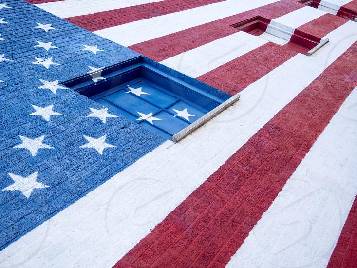 American flag mural photo