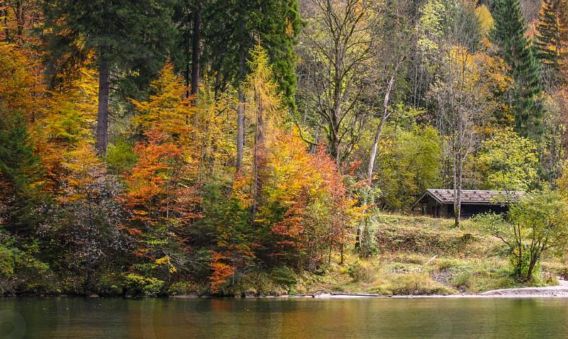 On an Autumn lake Bavaria Germany photo