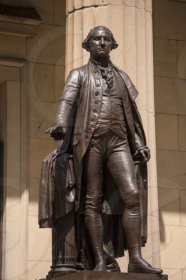 New York Federal hall Memorial George Washington Statue US photo