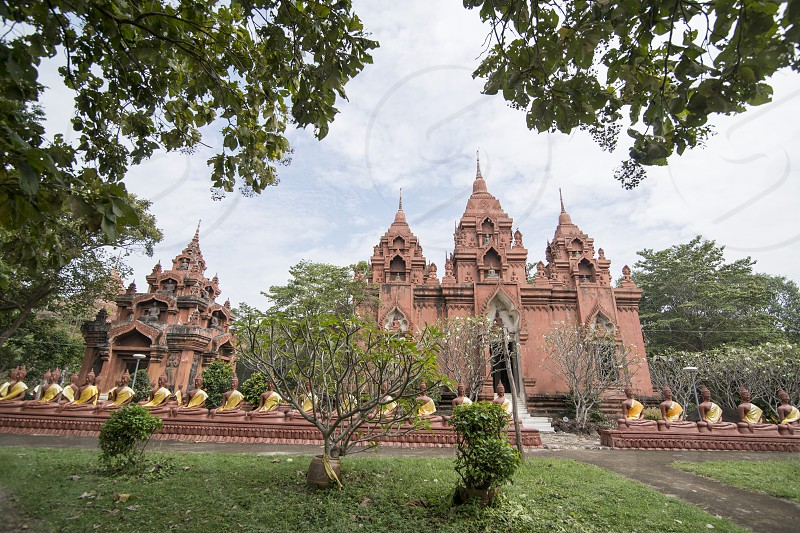 the wat khao Angkhan south of the city of Buriram in the province of Buri Ram in Isan in Northeast thailand.  Thailand Buriram November 2017 photo