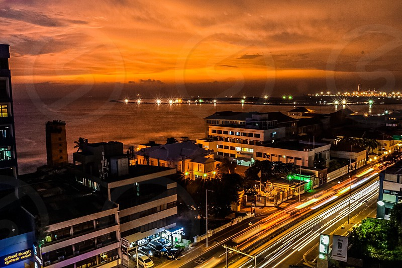 This is my balcony view at about 9pm. Colombo  Sri Lanka  photo