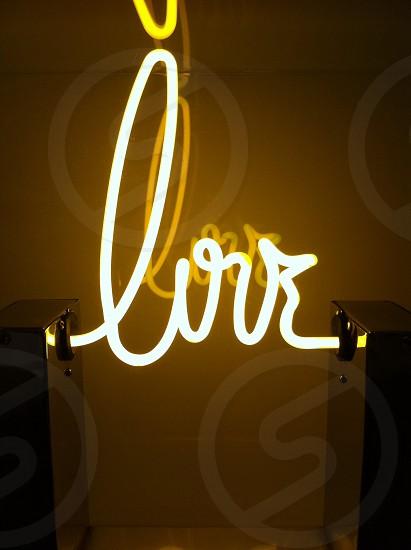 white LED light signage photo