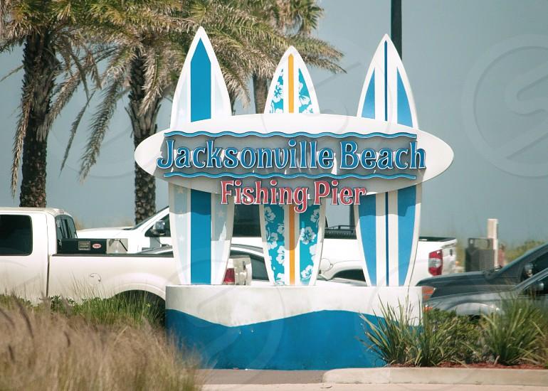 Jacksonville beach Florida Beach sign photo