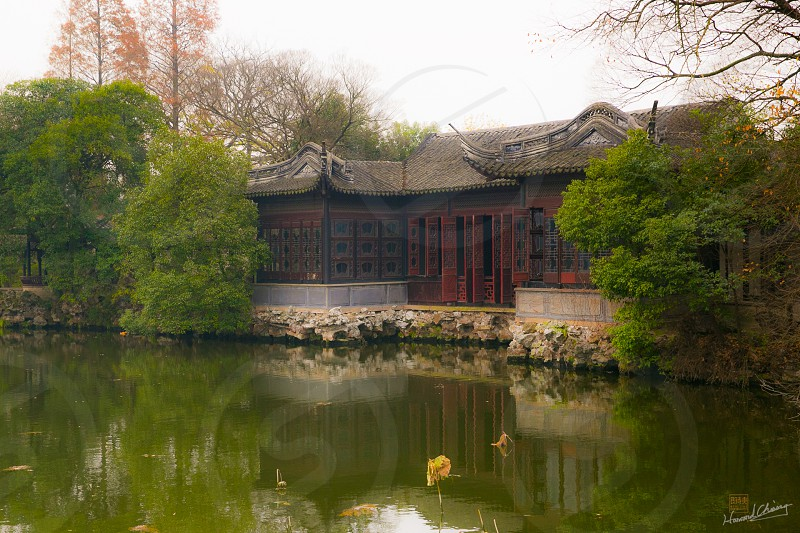 traditional Chinese jiannan style architecture  photo