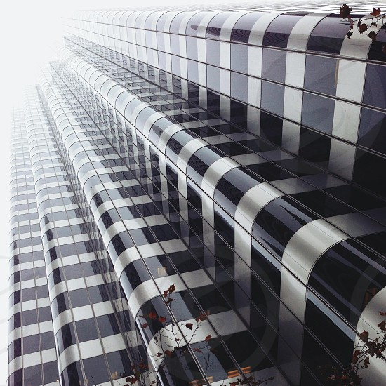 silver and black window building photo