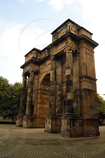 SCOTLAND. GLASGOW. The McLennan Arch on Glasgow Green.  photo