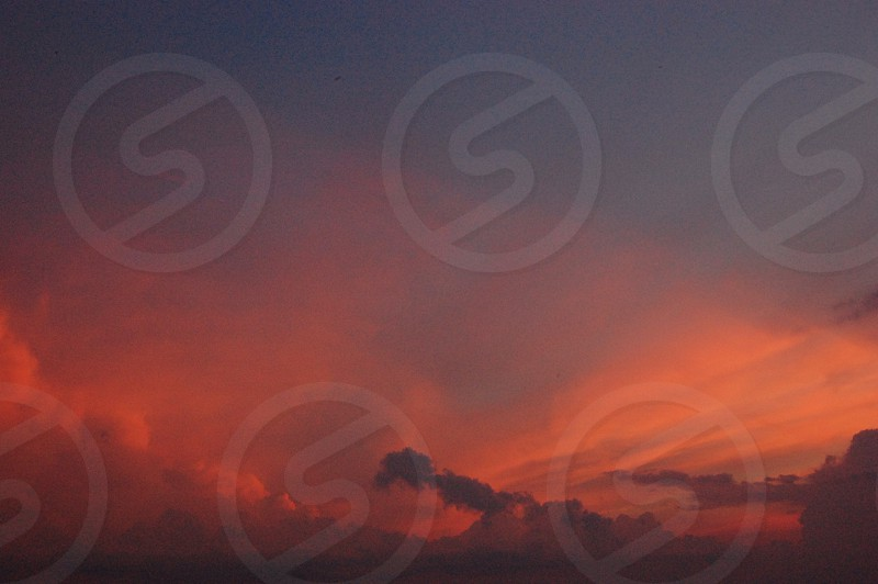 oarnge sky view photo