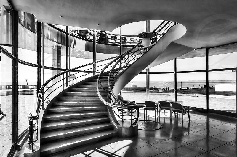 Staircase in the De La Warr Pavilion Bexhill on Sea photo