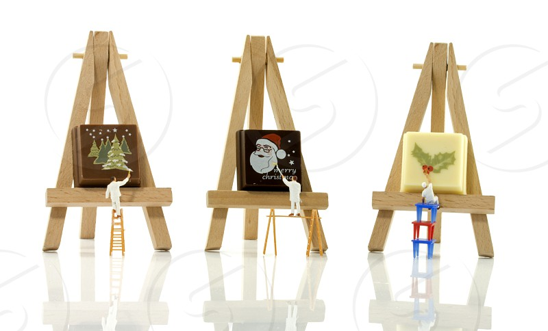 little world  photography figures painting the Christmas sweets photo