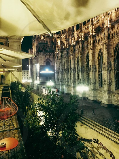 Milan duomo city Night photo