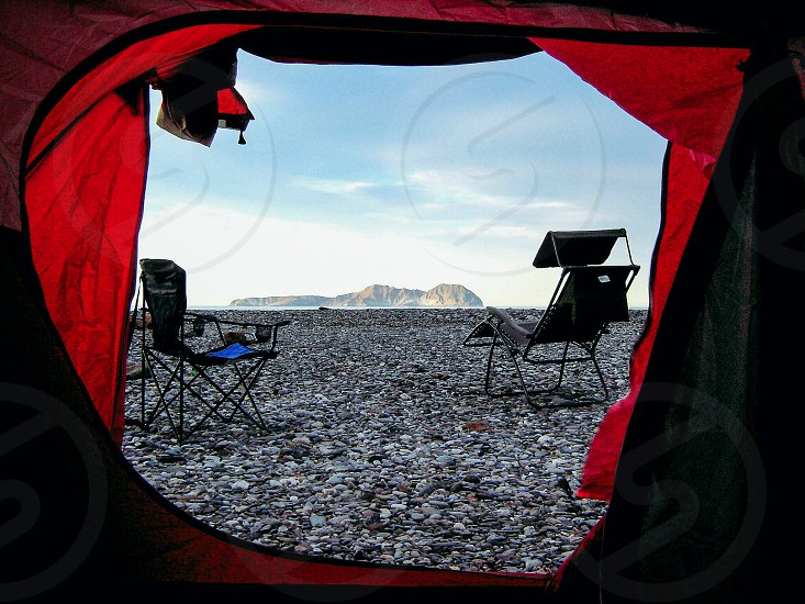 View while camping photo