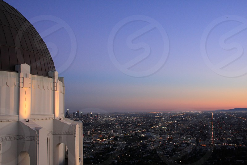 Griffith Park Los Angeles California The best place to watch every light of the entire Los Angeles at night. photo