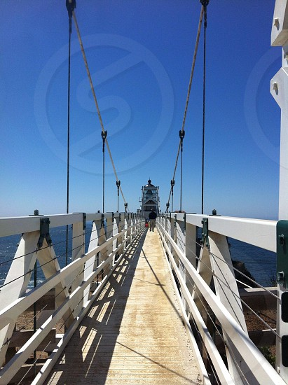 Bridge to the lighthouse.  photo