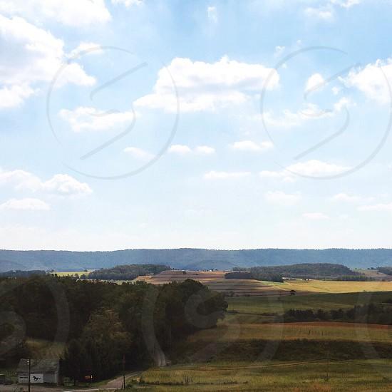 country road hills landscape Pennsylvania  photo