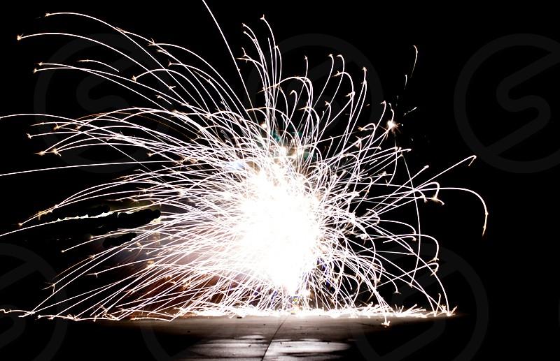 firework sparklers photo