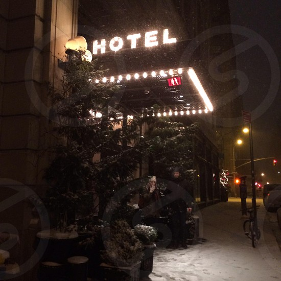 Ace hotel: a manhattan boutique hotel in the middle of the winter. photo