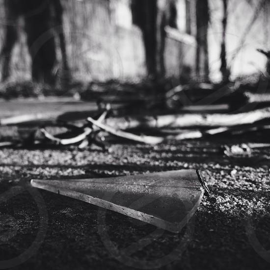clear broken glass photo