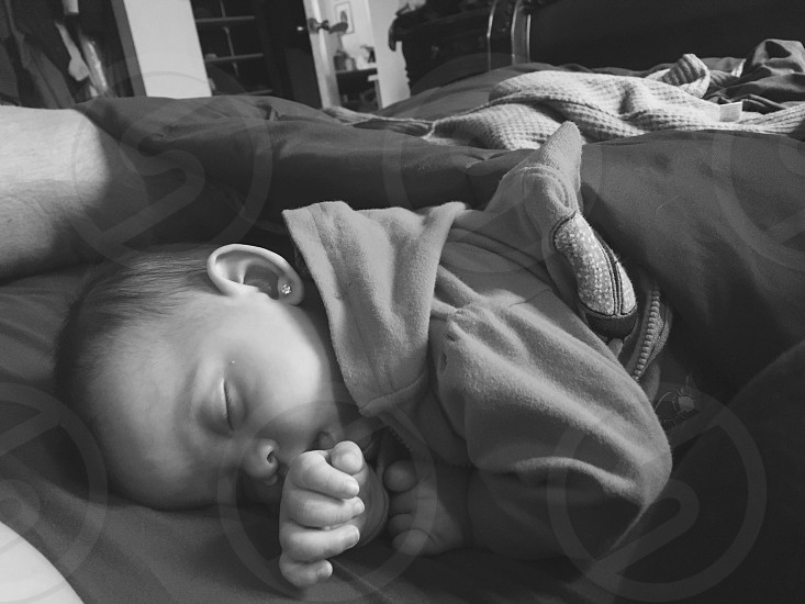 Sleeping peacefully baby photo