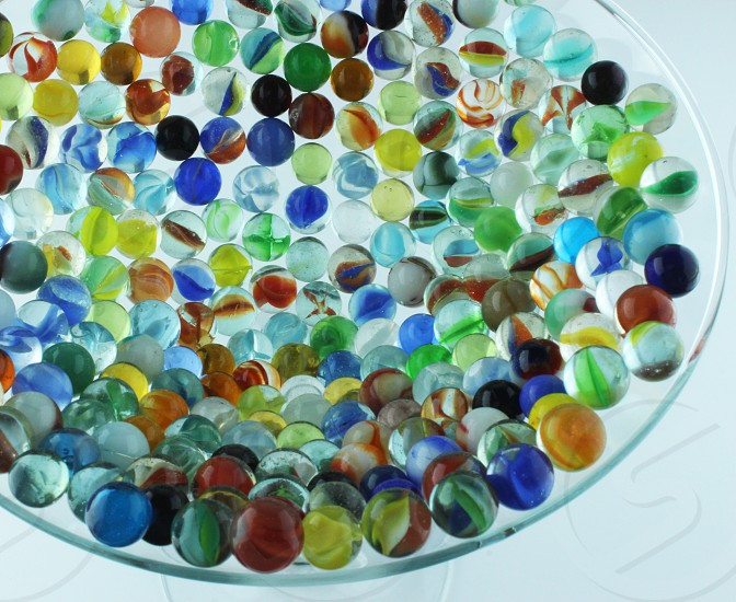 Marbles glass color light photo