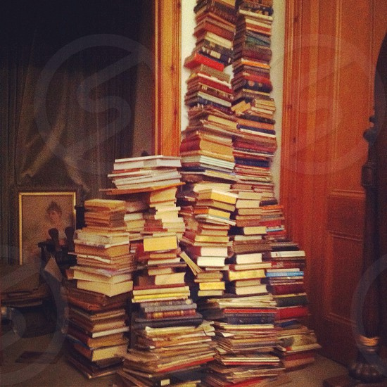 A stack of books photo