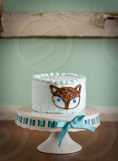 Fox woodland birthday cake photo