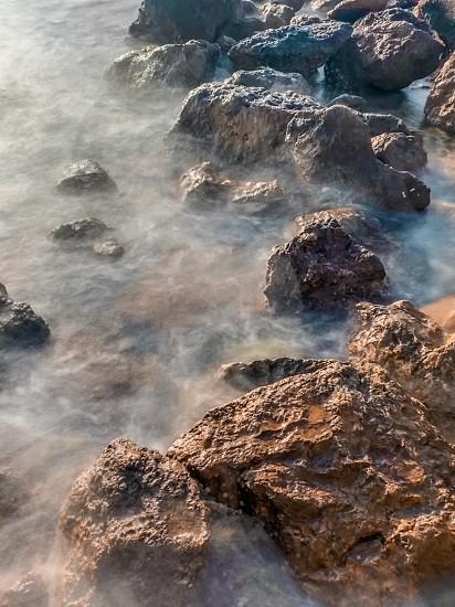 Rocks sea water Egypt beach  photo