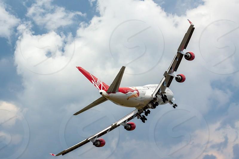 Virgin Atlantic - Boeing 747-400 Flypast at Biggin Hill Airshow photo