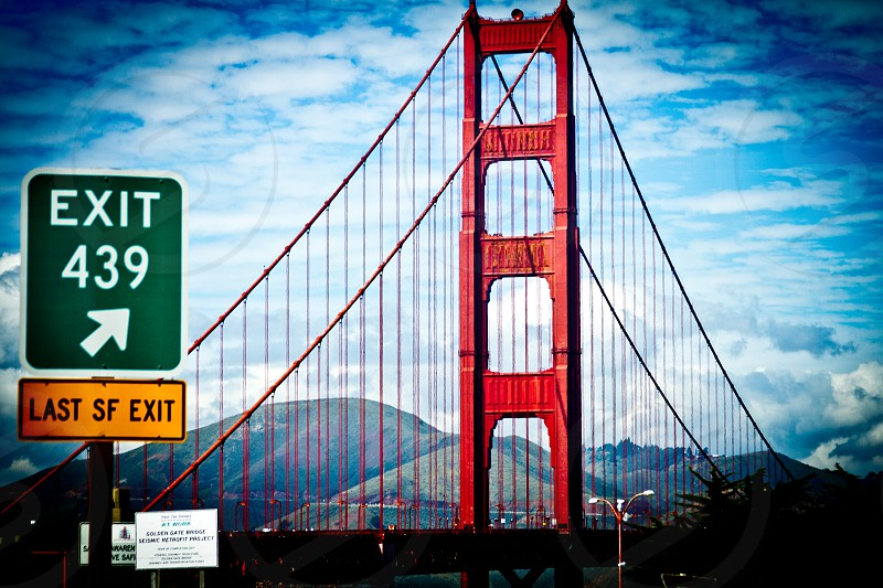 Golden Gate Bridge exit 439 cityscape  photo