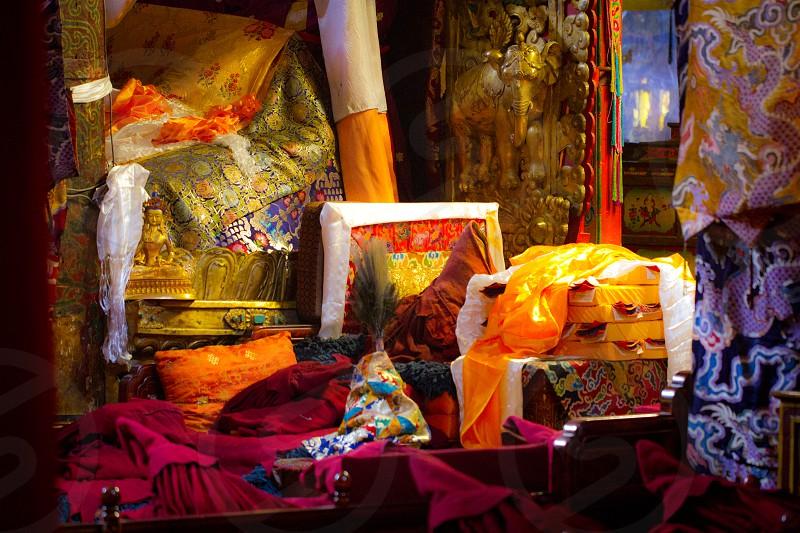 Fabrics Tibet China photo