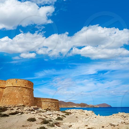 Almeria Cabo de Gata fortress Los Escullos beach of Spain photo