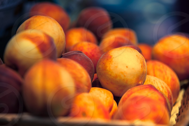 Peaches at North Market.  photo
