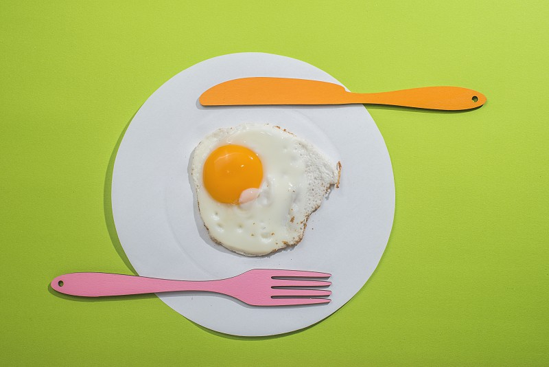 Food concept with paper dish and egg photo